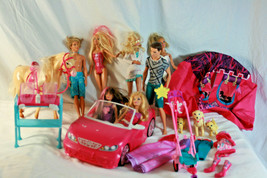 Huge Lot of Barbie & Ken Dolls, Cars, Horses, and Dogs - $58.95