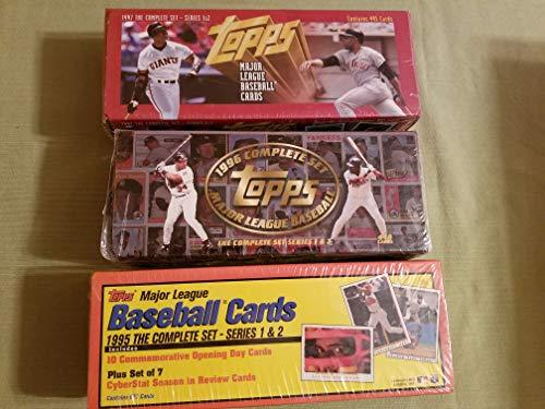 Primary image for Lot of 3 Sets From Topps. 1995 1996 1997 Baseball Card Complete Factory Sealed S