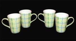 """3 Starbucks Distressed Green Plaid 2006 Mugs """"STARBUCKS"""" Inside APPEAR U... - $34.99"""