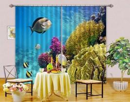 3D Coral Deep Sea Fish 11 Blockout Photo Curtain Print Curtains Drapes U... - $177.64+