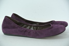 Vera Wang Lavender Womens Sz 7.5 M Purple Suede Ballet Flat Shoes NICE!! - $39.59