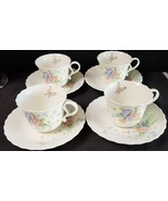 (4) Mikasa Something Blue Teacups/Coffee cups and Saucers - $46.71