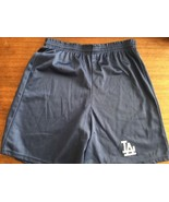 Vintage Los Angeles Dodgers Majestic Brand Shorts Made USA 80's Embroide... - $20.89