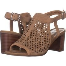 Franco Sarto Harlet3 Mule Sandals 519, Beige Suede, 8.5 US / 38.5 EU - $28.79