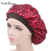Women Hair accessories Chemo cap flocking Satin Sleep Cap Soft Night Sle... - $11.57