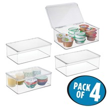 mDesign Stackable Kitchen Pantry Cabinet or Refrigerator Storage Bin wit... - $80.85 CAD