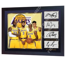 LeBron James Kuzma Rondo Davis Los Angeles Lakers signed photo print NBA... - $20.74