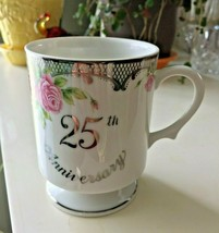 25TH Anniversary Lefton China Coffee Mug 1994 Geo Z Japan 01307 New Cup - $9.99