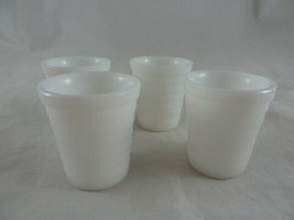 """Antique Childs Akro Milk glass white Cups Glasses 2"""" tall set of 4 - $19.79"""