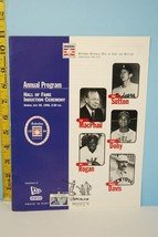 1998 Annual Program Baseball Hall of Fame Induction - $9.99