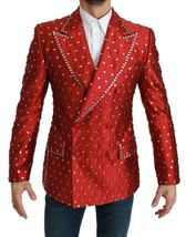 Dolce & Gabbana Double breasted Embellished Crystals Blazer IT 52 US 42 - $4,689.72