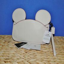 Coach X Disney Mickey Ears Leather Wristlet Ltd Edition Collection Chalk image 10