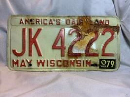 Wisconsin American's Dairyland License Plate JK4222 - $7.92
