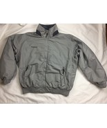 Men's Columbia Gray Fleece Lined Winter Jacket Coat Size L - $28.04