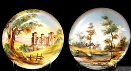 Bellagio Painted Italy Plates 10 inch AA19-1642 Vintage Pair image 4