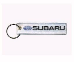 Subaru White Key Chain Fob Embroidered Key Locator - NEW - €13,54 EUR
