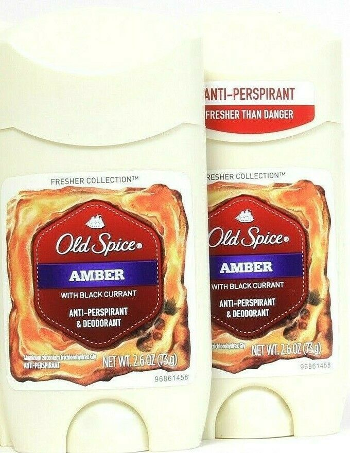 Primary image for 2 Ct Old Spice 2.6 Oz Amber With Black Current Anti Perspirant & Deodorant