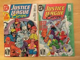 Justice League Europe #1 & 2 1989 DC Comic Book Lot VF Condition 1st Pri... - $3.63