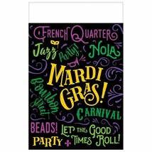 Let The Good Times Roll! 3 Mardi Gras Plastic Tablecover 54 x 84 - $14.84