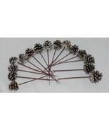 Wholesale lot 15 Pine Cones Snow Like White Tipped Plactic End Pics - $14.95