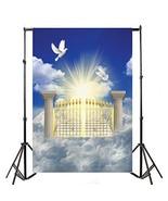 Yeele 5x7ft Heaven Gateway Backdrops Vinyl Peace Dove Holy Jesus Christi... - $19.03