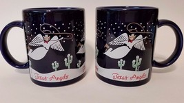 """""""Texas Angels"""" Coffee Cups/Mugs - Set of 2 - 3 3/4"""" x 3"""" - New Without Tags - $27.10"""