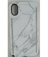 iPhone Case LuMee Duo iPhone X Case and Mobile Lighting Studio White Marble - $29.89
