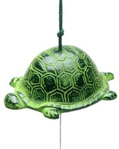 Kotobuki Iron Japanese Wind Chime, Turtle, Green - $18.83