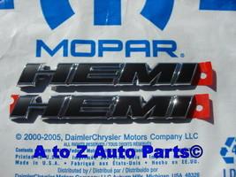 2011-2014 Dodge Challenger R/T HEMI Hood Emblems Charger Fender Emblems, Mopar - $99.95