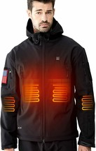 DEWBU Heated Jacket with 7.4V Battery for Men Soft Shell XX-Large, Black - $229.06