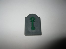 1995 Atmosfear Board Game Piece: Green Key Tombstone - $1.00