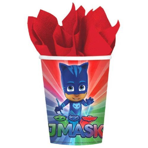 PJ Masks 8 Hot Cold Paper 9 oz Cups Birthday Party