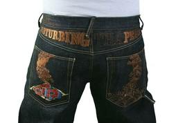 The Year Of Dtpb Ludacris Disturbing Peace No Guerra Crudo Jeans Blu Nwt... - £81.40 GBP