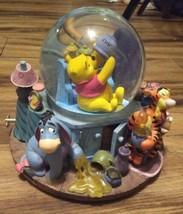 Winnie The Pooh Disney Musical Water Globe 1963 VTG Broken Piece Best Offer - $34.64