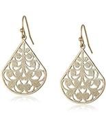 1928 Jewelry Gold-Tone Vine Filigree Earrings - $30.42