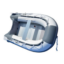 BRIS 8.2 ft Inflatable Boat Inflatable Pontoon Dinghy Raft Tender Canopy image 6