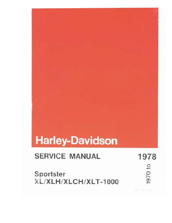 Harley Davidson 1970-1978 Sportster XL XLH XLCH-1000 Service Manual PDF File for sale  USA
