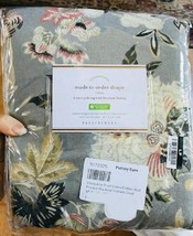 Pottery Barn Emmaline Drape Cool Gray 84L Blockout Curtain Pole Floral Just One - $129.00