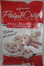 White Chocolate and Peppermint Pretzel Crisps (Pack of 2 Small 4 oz bags) - $19.99