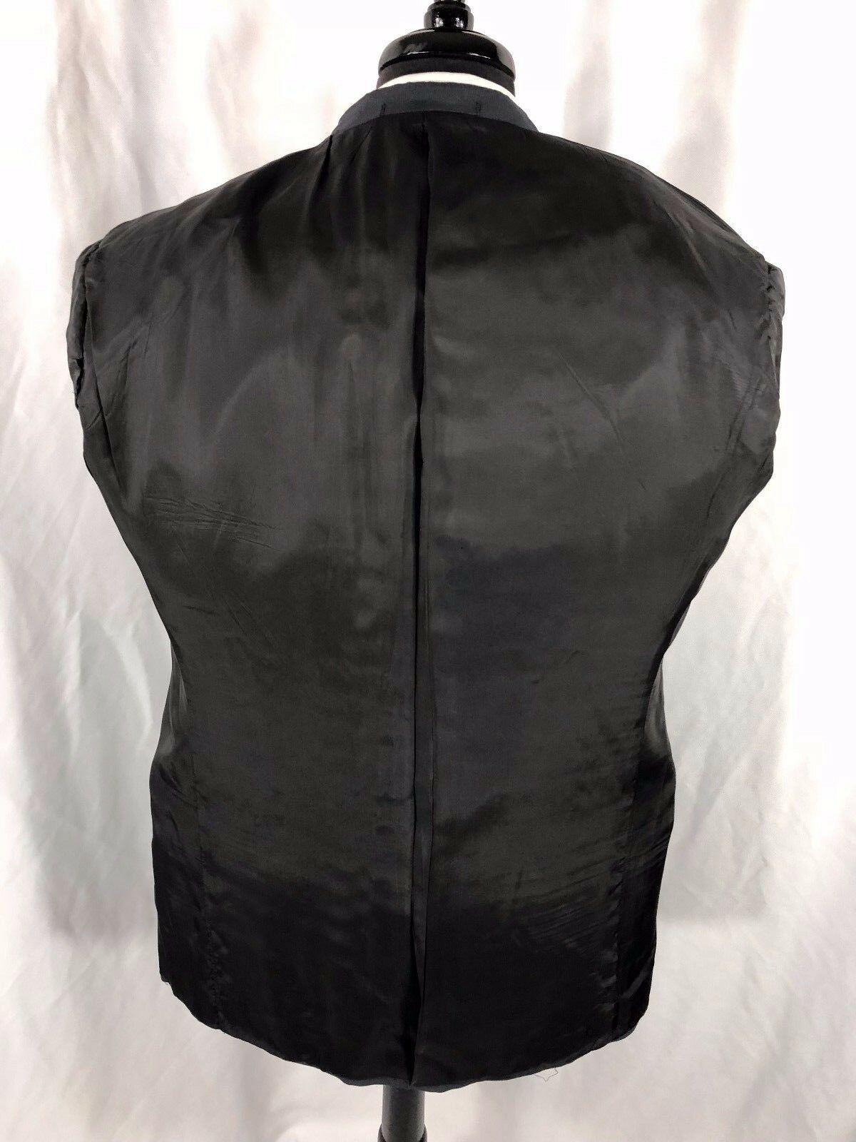 Armani Collezioni Men's Gray Blazer Wool Silk Blend Blazer Jacket Sport Coat 42R