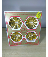 Vintage Aluminum Christmas Tree Light Reflectors • New/Old Stock • Origi... - $20.00