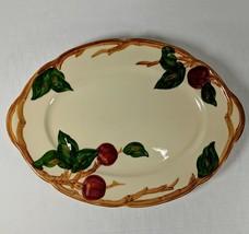 "Franciscan Apple 14""x10"" Oval Handled Platter Serving Dish Gladding McBe... - $23.36"