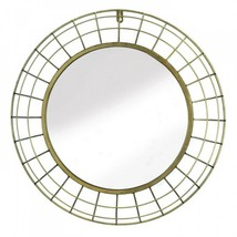 Golden Wire Dome Framed Wall Mirror - $68.39