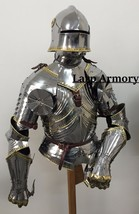 Medieval reenactment wearable breastplate with helmet suit of armour - $550.00