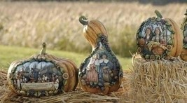 "9.5"" Joseph's Studio Harvest Thanksgiving Pumpkin with Pilgrim Scene - $29.69"