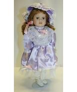 "15-1/2"" Porcelain Doll Reddish Brown Hair Grey Eyes Unbranded  - $19.79"