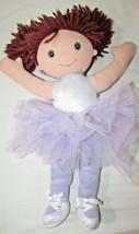 """Debbie Dancer purple ballerina brunette plush rag doll Well-Made Toys 17"""" - $6.92"""