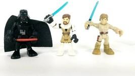 Star Wars Galactic Heroes Figures Obi Wan Kenobi Darth Vader Luke Skywal... - $17.76