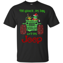 The Grinch His Dog and His Jeep G200 Gildan Ultra Cotton T-Shirt - $19.00+