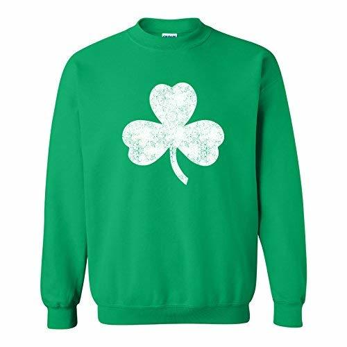 Primary image for UGP Campus Apparel Lucky Clover Shamrock Distressed ST Patricks Day Crewneck Swe